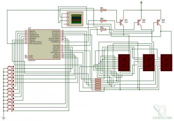 Схема измерителя уровня/положения жидкости в емкости на AVR-микроконтроллере