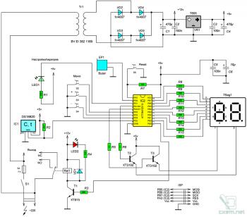 Схема термостата циркуляционного насоса на AVR