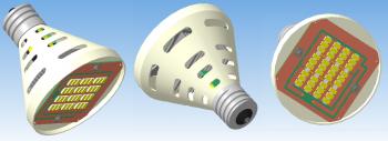 3D модель светодиодной лампы