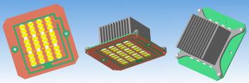 Светодиодный модуль с радиатором