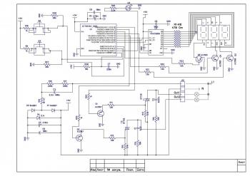 Схема двухканального циклического программируемого реле времени
