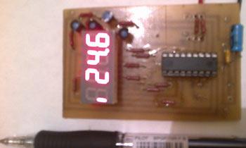 Показания температуры первого датчика