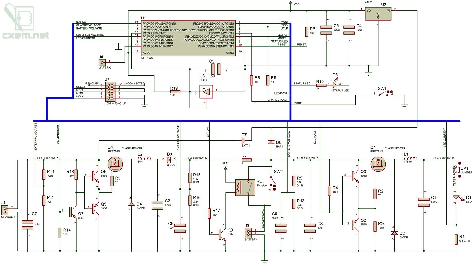 от прикуривателя зарядка схема на d8050 транзисторе