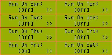 Выбор дней недели