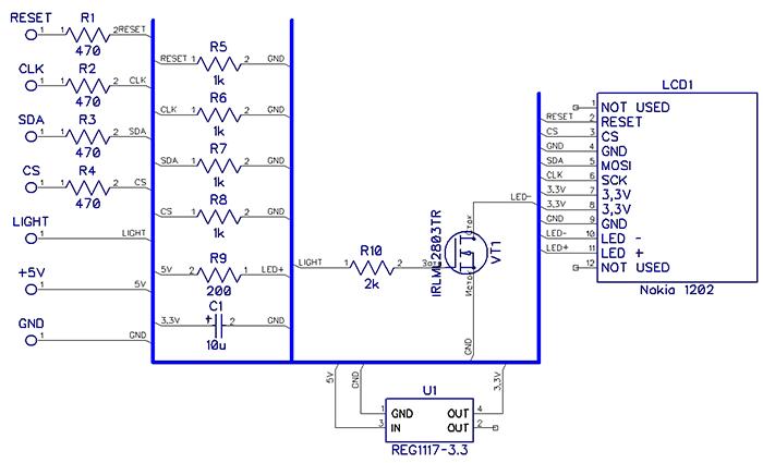 Схема дисплея