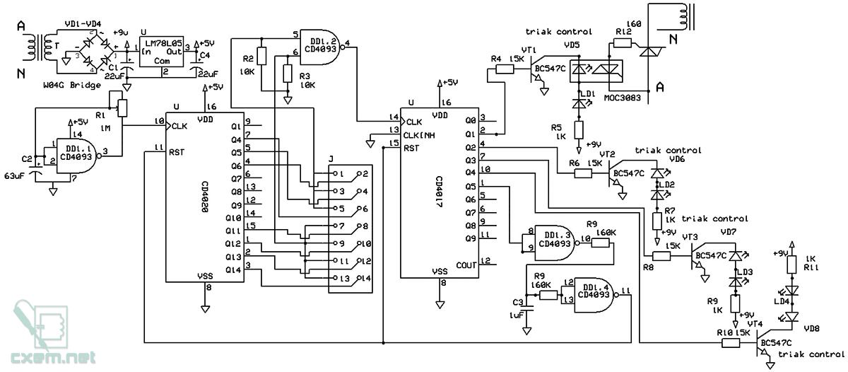 Схема простого циклического