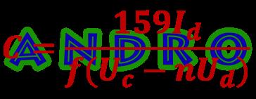 C = 159Id/(f(Uc-nUd))