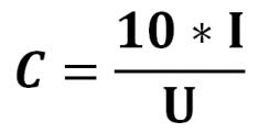C=10I/U