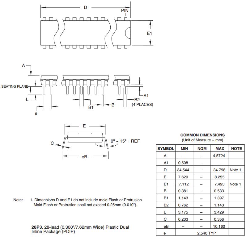 Корпус PDIP-28