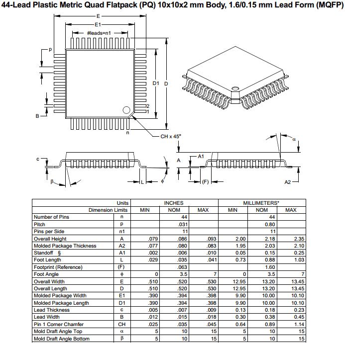 Корпус MQFP-44