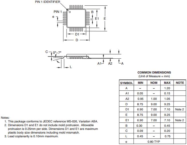 Корпус TQFP 32A 32