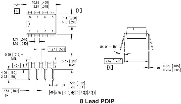 Корпус PDIP-8
