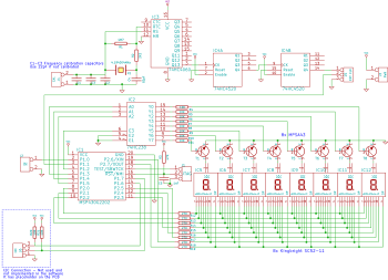 Принципиальная схема частотомера на MSP430