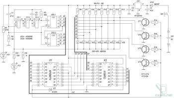 Принципиальная схема пробника для микросхем