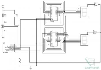 Схема монитора напряжения