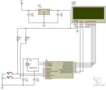 Схема тестера LCD