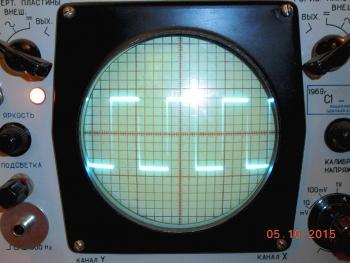 Рис.5 - Выходной сигнал на экране реального осциллографа.
