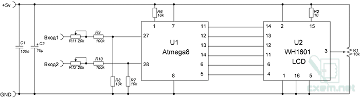 Схема вольтметра