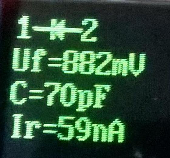 измерение 1 - анод; 2 - катод