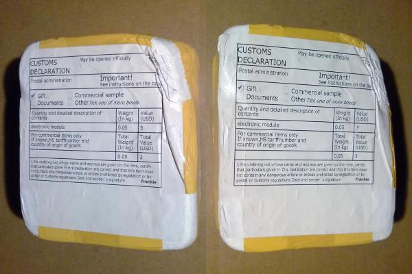 Упаковка тестера