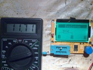 Потребление тока во время проверки резистора