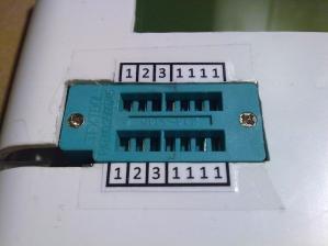 Контактная колодка с маркировкой