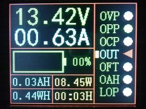 Отображение процесса заряда