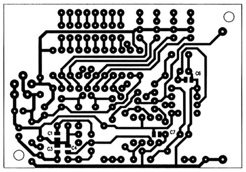 Печатная плата цифрового амперметра