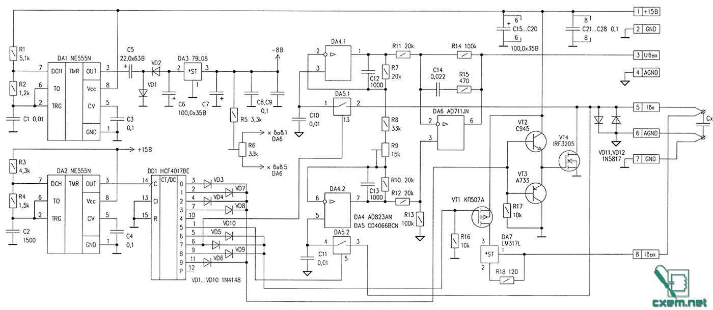 Испытатель электролитических конденсаторов - В домашнюю ...