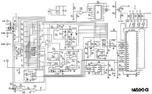 принципиальная схема цифрового мультиметра