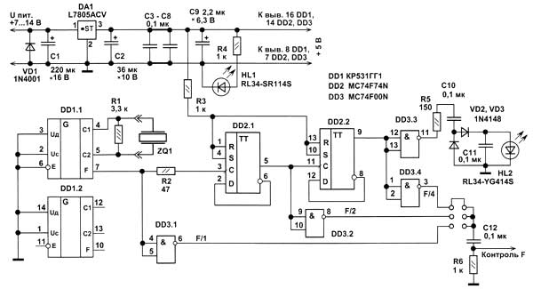 кварцевая стабилизация частоты Задающий генератор Для получения мощных колебаний на выходе радиопередатчика колебания...