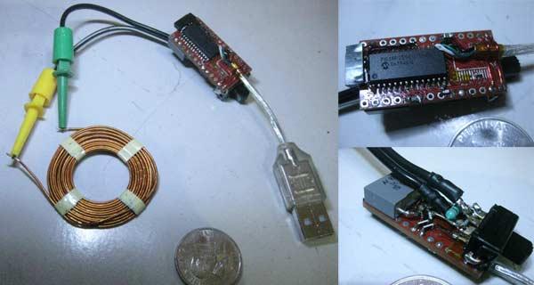 Схема:Измеритель емкости и индуктивности для USB на микроконтроллере PIC18F2550, использующий HID-драйвер...