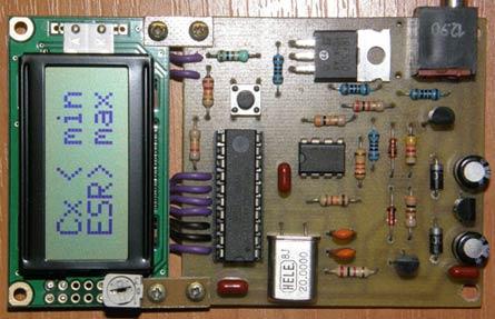 печатную плату в формате LAY, сборочный чертеж и прошивку. исходная версия измерителя: Радио - 7, 2010г.  DesAlex.