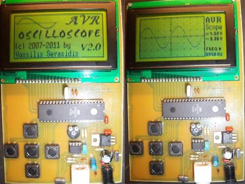 Самодельный осциллограф на AVR