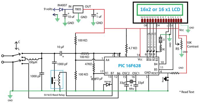 Схема LC измерителя