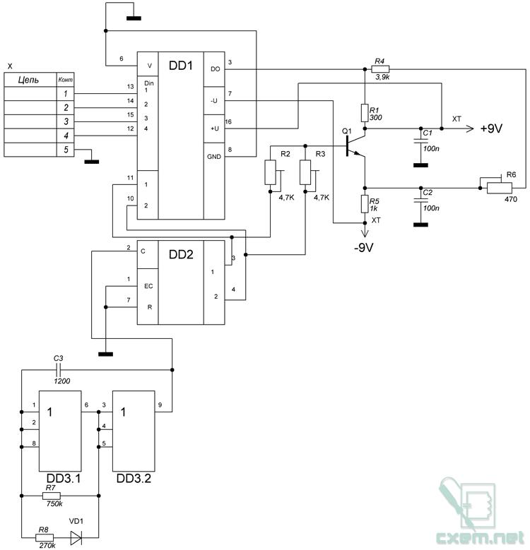 На микросхеме DD3 собран