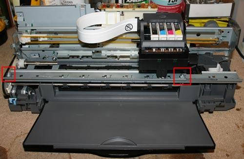 Механизм очистки печатающей головки