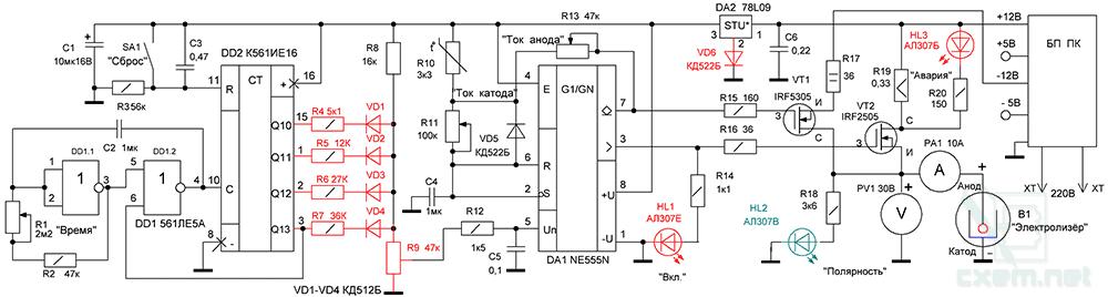 В состав электронной схемы