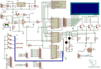 Схема паяльной станции на микроконтроллере PIC12F683