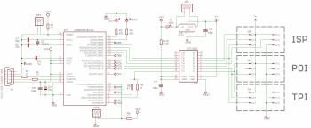 Схема программатора USBTiny-MkII