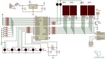 Схема устрйоства для автоматической подачи звонков на AVR