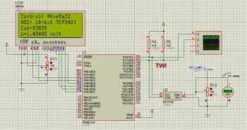 Моделирование 18 бит АЦП впрограмме Proteus