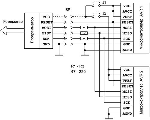 Рис.1а Схема подключения