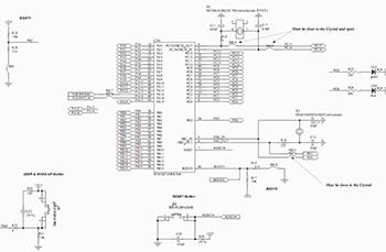 Схема электрическая принципиальная включения отлаживаемого микроконтроллера платы STM32VLDiscovery