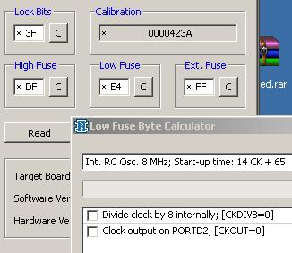 Установка фьюз-бит в SinaProg
