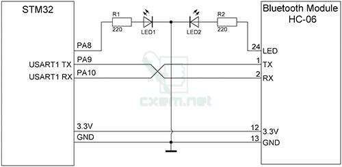 Схема подключения Bluetooth к