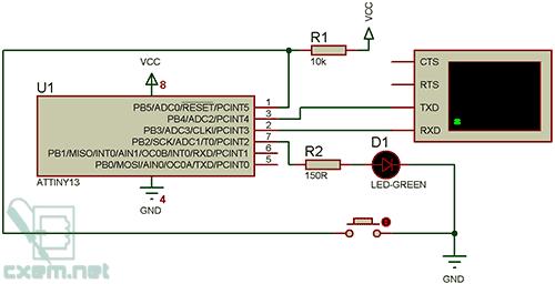 Схема в Proteus.