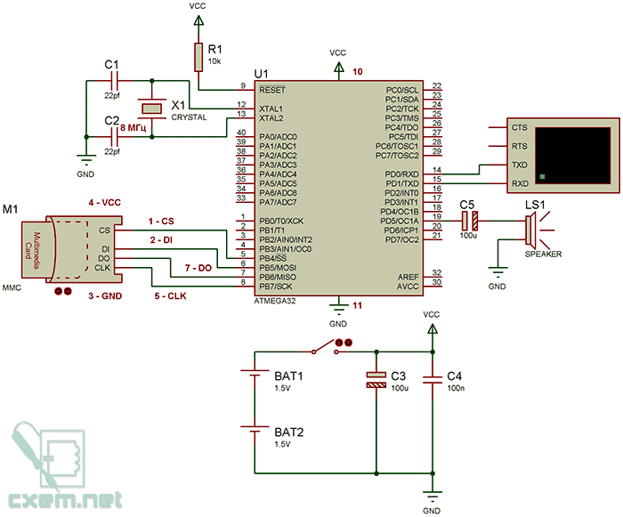 Схема плеера