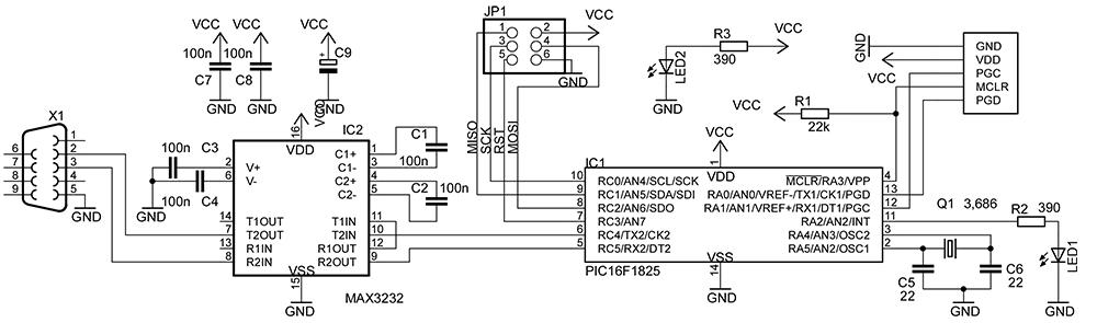 Схему Программатор Stk500 By Petka