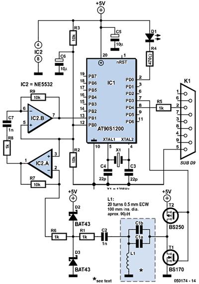 Оригинальная схема устройства из журнала Elektor (2005-10)